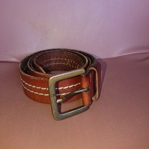 Other - Men's belt 40 brown leather decorative stitch used